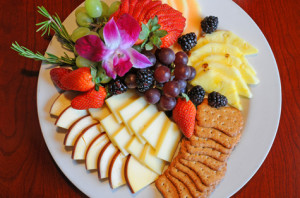 Fruit and Cheese At The Huffman House
